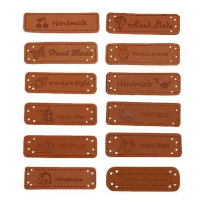 * Handmade* Leder Etiketten Label Tags Aufnaeher Kleidung TOP Angebot! Highlight