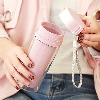 Portable Universal Double-layer Heat Insulation Plain Water Bottles Drinking Cup (Plain Water Bottles)