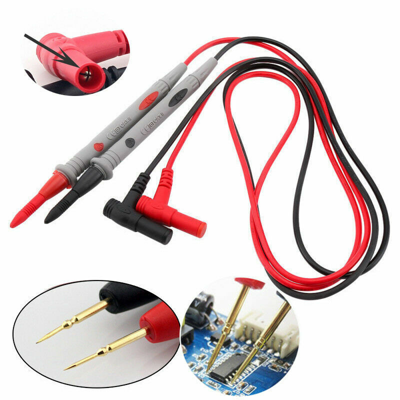 Digital Multimeter 1000V 20A Test Lead Cable Probe Pen Needle Tip Wire Pen New