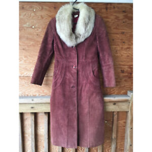 Size Small Magenta Fur Coat