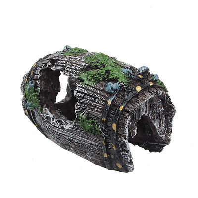 Fish Tank Aquarium Cave Resin Broken Barrel Ornament Landscape Decor On Sale