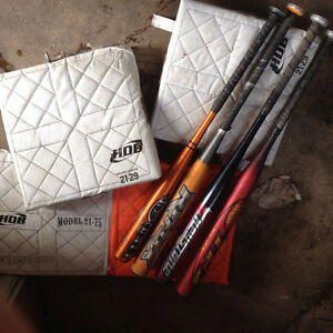 Softball equipment for sale: Bats, balls, bases & equipment bag