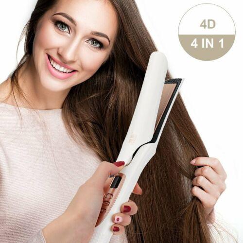 Pro. Hair Straightener 4D Vapor Ceramic Flat Iron Curly Stra