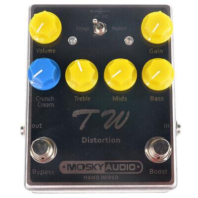 MOSKY Audio Distortion Guitar Effect Pedal Capacitors Resistors IC 3 Band EQ UK