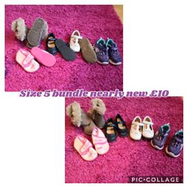 Size 5 shoe bundle hardly worn