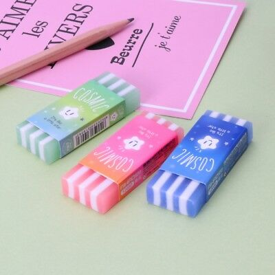 Cute Colored Stripe Pencil Erasers Star Jelly Rubber For Kids School Supplies  - School Supplies For Kids
