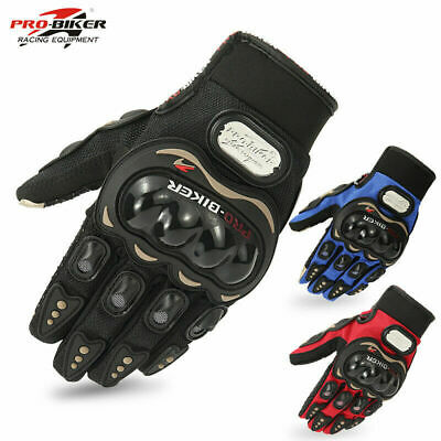 Carbon Fiber Motorcycle Motorbike Riding Gloves Cruiser Biker Cycling Armor Gear