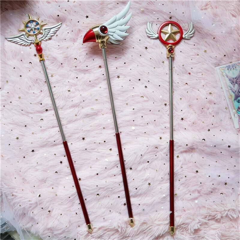 Anime Card Captor Sakura Cosplay Prop Wand Walking Stick Holiday Gift Magic Wand