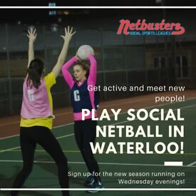 NEW SEASON - Play Social Netball in Waterloo!