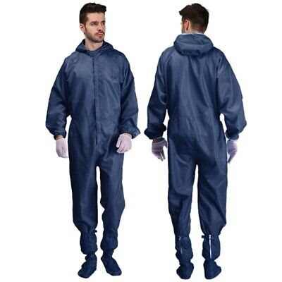 Hazmat Suit Protection Clothing Safety Coverall Clean Room Washable