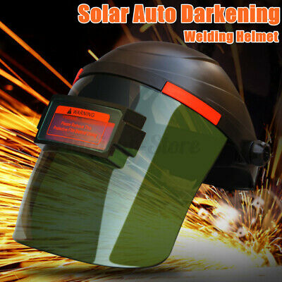 Din 3 Solar Auto Darkening Welding Helmet Tig Mig Arc Mask Grinding Welder Us