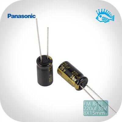 220uf 35v Panasonic Fm Series Low Esr Fever Audio Electrolytic Capacitor 8x15