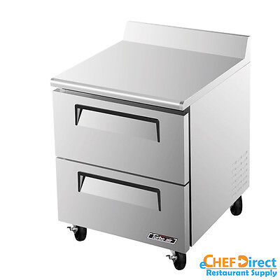 Turbo Air Twr-28sd-d2-n Super Deluxe 28 2 Drawer Worktop Refrigerator
