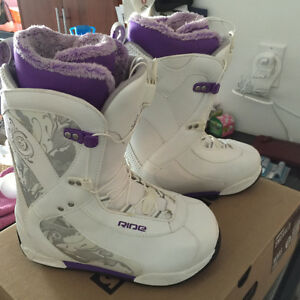 Woman's RIDE Snowboard boots.