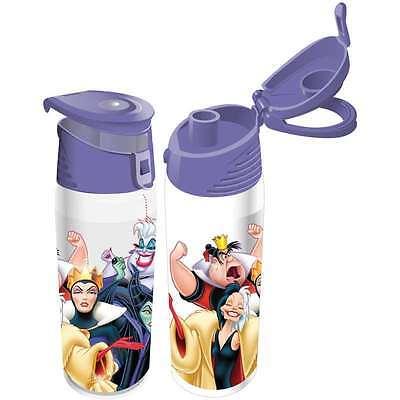 Disney Ursula Cruella Evil Queen Maleficent Flip Top Bottle