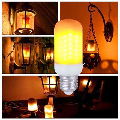 (LED Flame Effect Simulated Nature Fire Light Bulb E27 E26 E14 E12 B22 Decor Lamp)