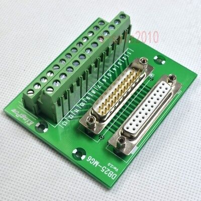 D-sub Db25 Plug Male Female Header Breakout Board Terminal Block Connector Mf