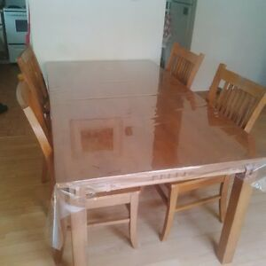 Large wood dinning table