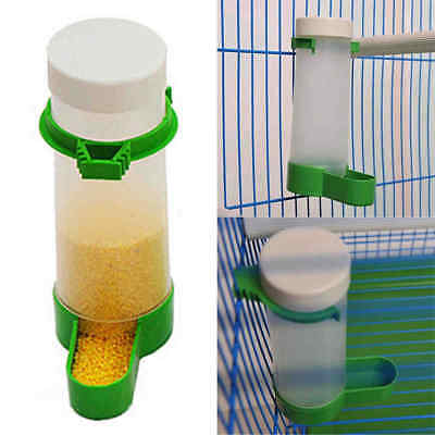 Squirrel Bird Seed Water Feeder Tube Garden Indoor Outdoor Plastic Green & White