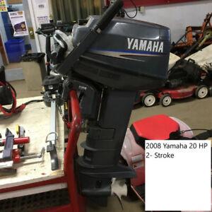 2008 Yamaha 20 HP- 2 Stroke Long Shaft