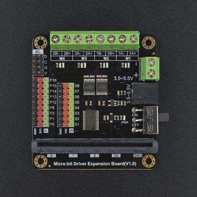 3.55.5v Dc 8 Servo Interfaces Microbit Motor Drive Expansion Board
