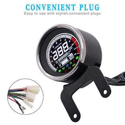 LCD Speedometer Tachometer Digital 12000rpm Odometer level Temp Fuel gauge oil