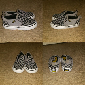 Vans checker shoes (size 6 toddler)