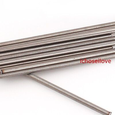 1Pc Threaded Rod 304 Stainless Screws M2 M2.5 M3 M4 M5 M6 M8 M10 M12 M16 M20