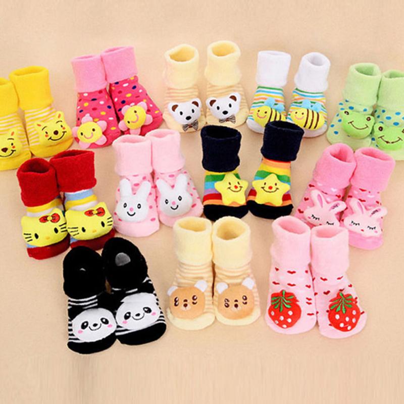 0-12 Months Baby Boots Anti-slip Socks Cartoon Newborn Girl
