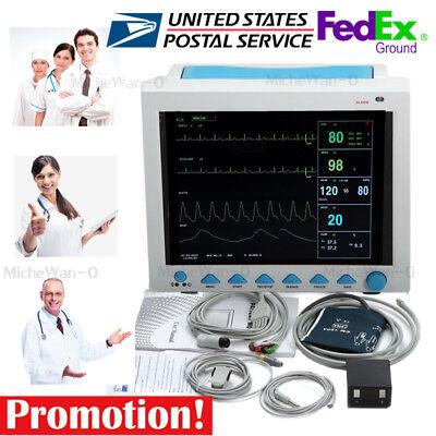 Usa 12.1 Portable Vital Sign Patient Monitor Ecgnibpspo2prresptemp Fda
