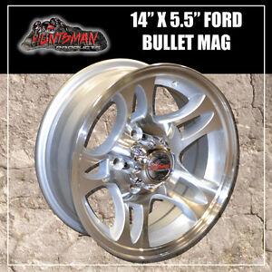 14X5.5 Ford Bullet Alloy Mag Wheel. Caravan Camper Trailer Boat Jetski Trailer