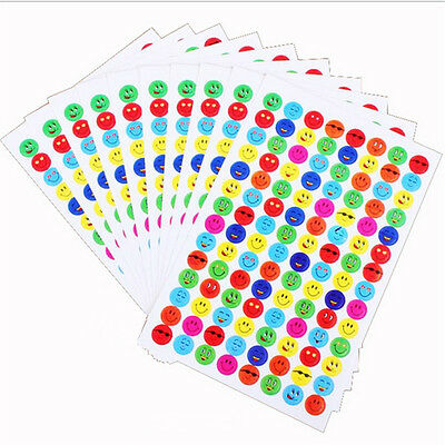 Stickers Wholesale (Wholesale 1120pcs/10 Sheets Smile Face Reward Stickers Merit Sticky Paper Label)
