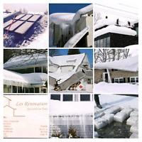 Déneigement et deglaçage de toiture Roof snow an ice removal