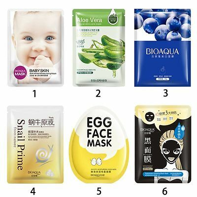 Deep Moisture Face Mask Korean Essence Facial Sheet Pack Skin Care Beauty Mask