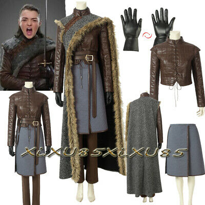 Game of Thrones 8 Costume Arya Stark Cosplay Costume Customize Halloween Suit](Arya Game Of Thrones Costume)