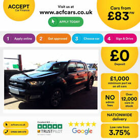 Black Ford Ranger 3.2TDCi 4x4 2016MY Wildtrak FROM £88 PER WEEK!