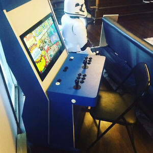 sit down arcade cabinet 2 player with game board