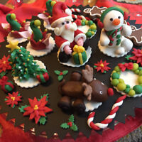 Hand-crafted Edible Xmas Figures (modelling chocolate)