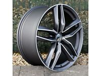 "20"" RS6-C with a Polished Face Alloy Wheel for 5x112 Audi A4, A6, A5 Etc"