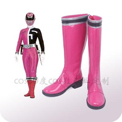 Halloween Tokusou Sentai Dekaranger Koume Kodou Deka Pink Cosplay shoes costom G