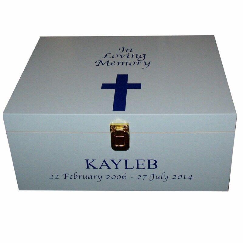 Personalised bereavement memory boxes