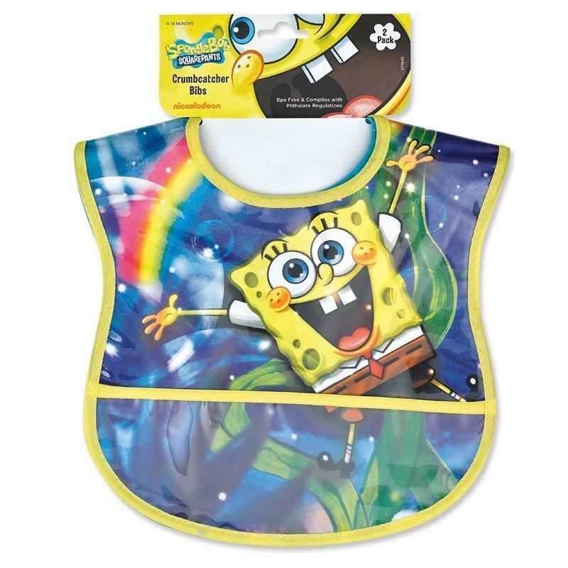 Spongebob Squarepants Baby Crumb Catcher Bib Set (2 Pack)