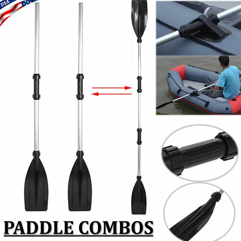 Aluminum Double-Ended Detachable Afloat Oars Paddles Boat Kayak Raft Canoe US