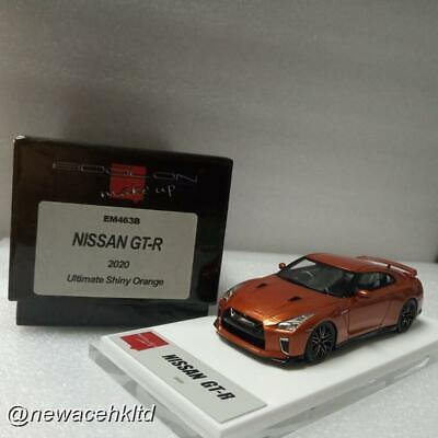 NISSAN GT-R 2020 Orange MAKE UP MODEL 1/43 #EM463B