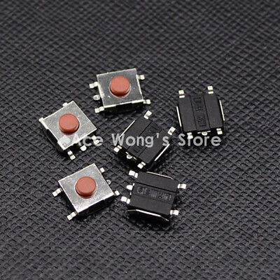 100pcs Smd 5pin 6x6x3.1mm Red Tactile Tact Push Button Micro Switch Momentary