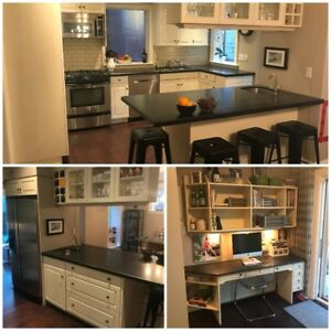 USED Chefs Kitchen: Island Cabinets Appliances  Caesarstone