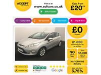 Ford Fiesta 1.0, 1.2, 1.4, EcoBoost Titanium Zetec Silver, 5dr FROM £20 PER WEEK