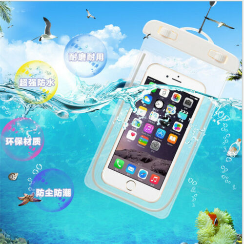 Luminous Glow Waterproof Underwater Pouch Bag Pack Dry Case Cover For Phone