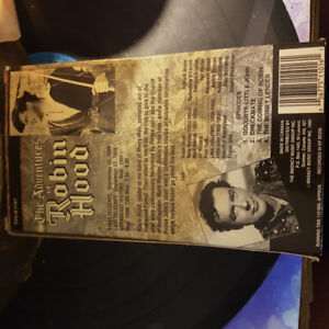 The Adventures of Robin Hood TV Show VHS (used)