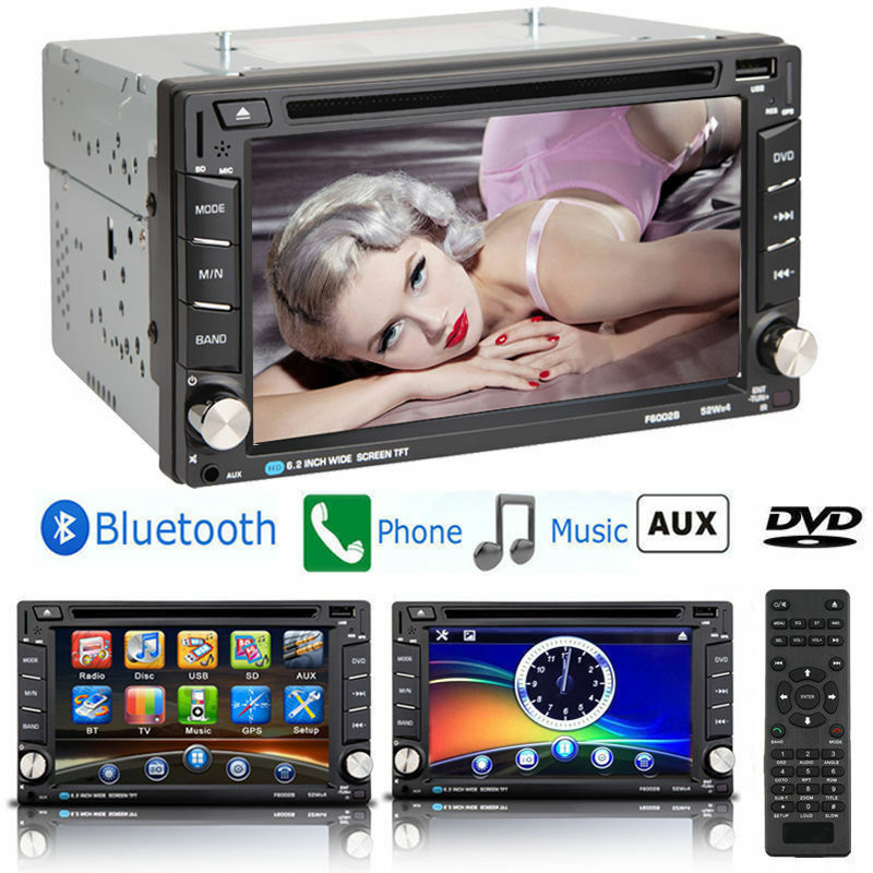 Bluetooth Car Stereo DVD CD Player 6.2